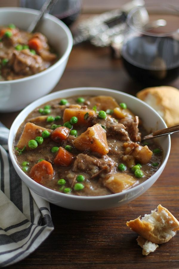 Crock Pot Beef Stew - a hearty and comforting meal made in your slow cooker, perfect for an easy dinner served over some quinoa or rice, with a nice fresh side salad! | TheRoastedRoot.net #recipe #healthy