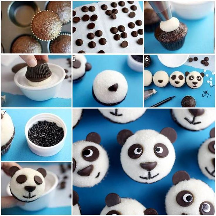 Cupcakes with Panda Topping 1