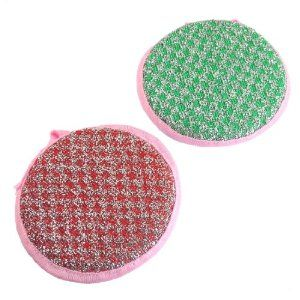 """Amico Kitchen Cleaning Tool Round Sponge Padded Bowl Cup Pan Scrub Pads 2 Pcs by Amico. $3.27. Material : Fabric, Sponge, Plastic. Pad Size(Each) : 11.5 x 2.5cm/ 4.5'' x 1"""" (D*T). Package : 2 x Bowl Dish Scrub Pads. Weight : 20g. Product Name : Bowl Dish Scrub Pad;Main Color : Red, Green, Pink, White, Silver Tone. Sponge pads with dual purpose sides design, one side is for cleaning the bowl, dish, and the other side is for scrubbing the pan, pot, etc. Round sponge pad with ..."""