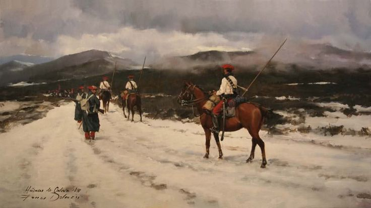 Húsares de Ontoria en el maestrazgo 1840 (1ª Guerra carlista). Ferrer Dalmau. Más en www.elgrancapitan.org/foro