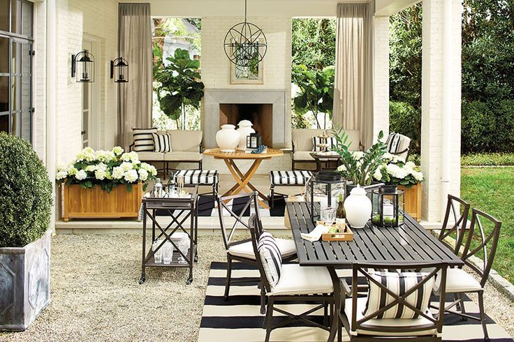 7 Ways To Decorate Outdoor Spaces With Stripes Outdoor Ideas Outdoor Rooms Patio Decor Outdoor Living Space