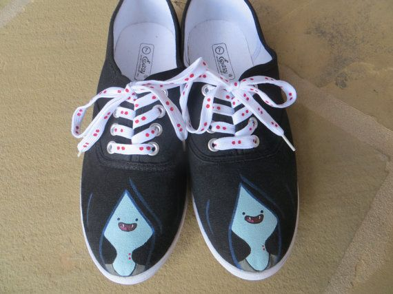Hand Painted Shoes  Marceline  Adventure Time by cindystyle
