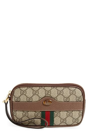 22a943339bdad3 Beautiful Gucci Ophidia GG Supreme Canvas Wristlet Women's Fashion  Handbags. [$490] newforbuy from top store