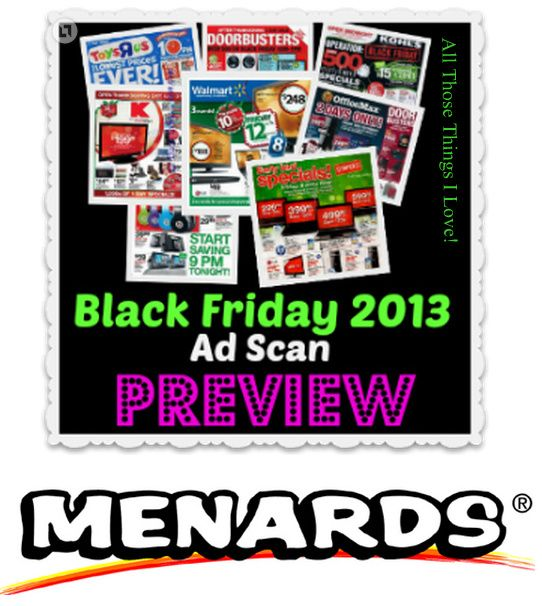 2013 Menards Black Friday Ad