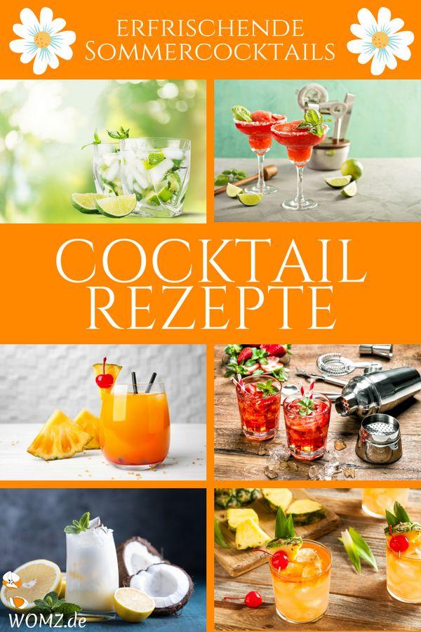 Heute wird es sommerlich und erfrischend. Hier habe ich beliebte Cocktail Rezepte für dich. Von Mai Tai, über Pina Colada bis hin zu Tequila Sunrise, Mojito, uvm.. Diese Sommercocktails sind ideal für deine nächste Cocktailparty, einen Abend mit Freunden oder einfach für ein tolles Sommerfeeling. #cocktail #rezepte #mojito #sommercocktails