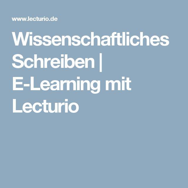 Wissenschaftliches Schreiben | E-Learning mit Lecturio