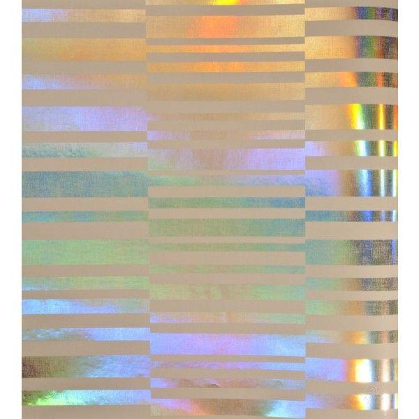 Srebrna tapeta z opalizującym połyskiem.