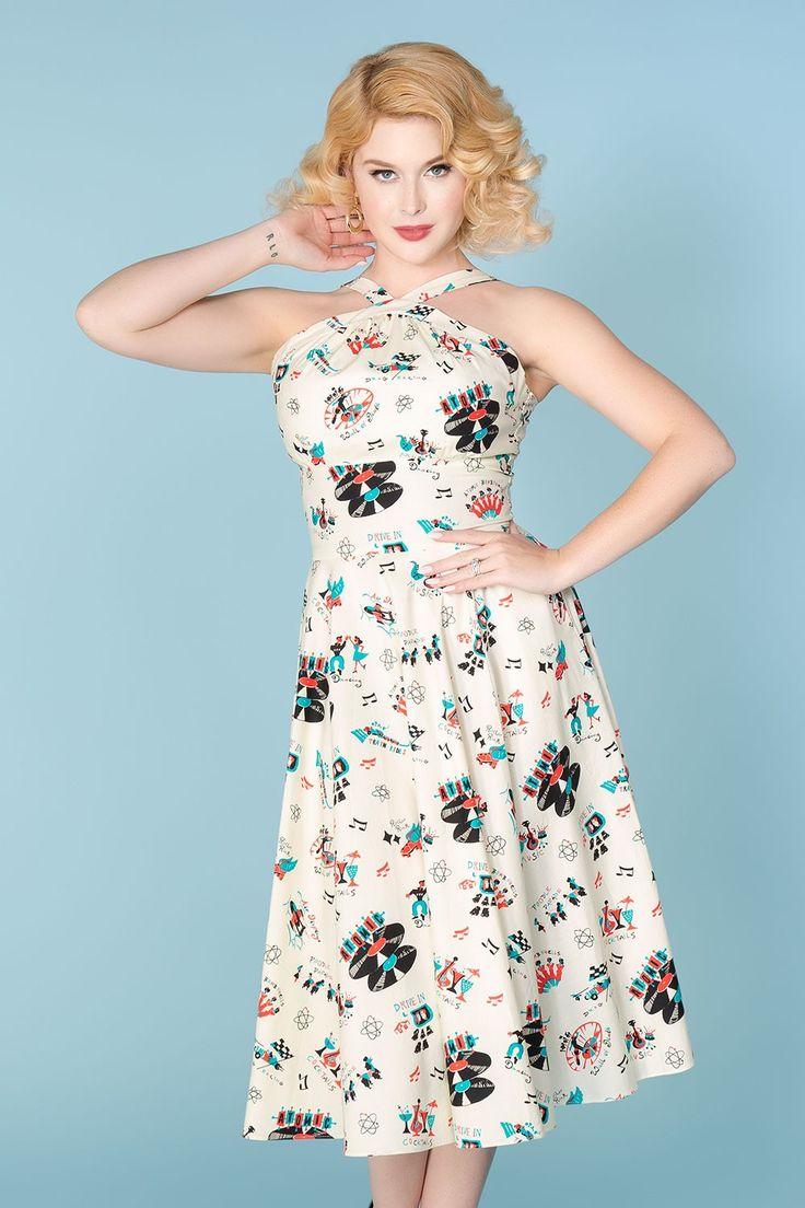 Bernie Dexter Colette Dress in Atomic Festival Print | Pinup Girl Clothing