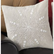 Herrschners Candlewick Pillow Covers - Candlewick Flowers Pillow Cover Stamped Embroidery Kit - Herrschners