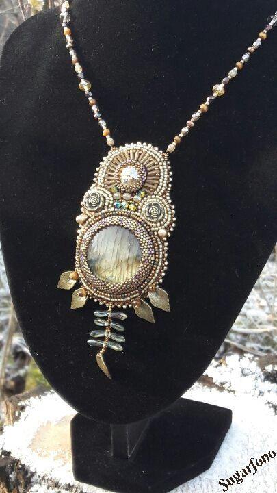 Daydream beadwork necklace by SugarfonoDesign on Etsy