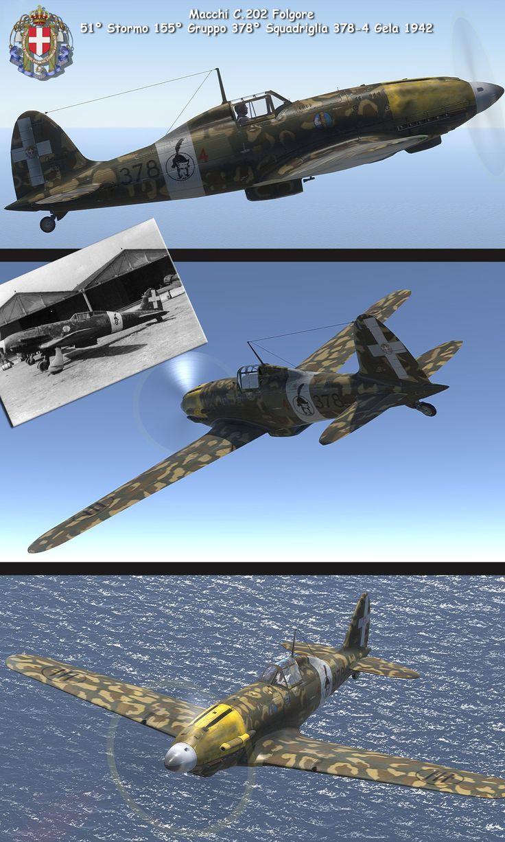 Savoia marchetti sm 79 gobba page 4 - Macchi C 202 Folgore 51 Stormo 155 Gruppo 378 Squadriglia 378 4 Gela 1942