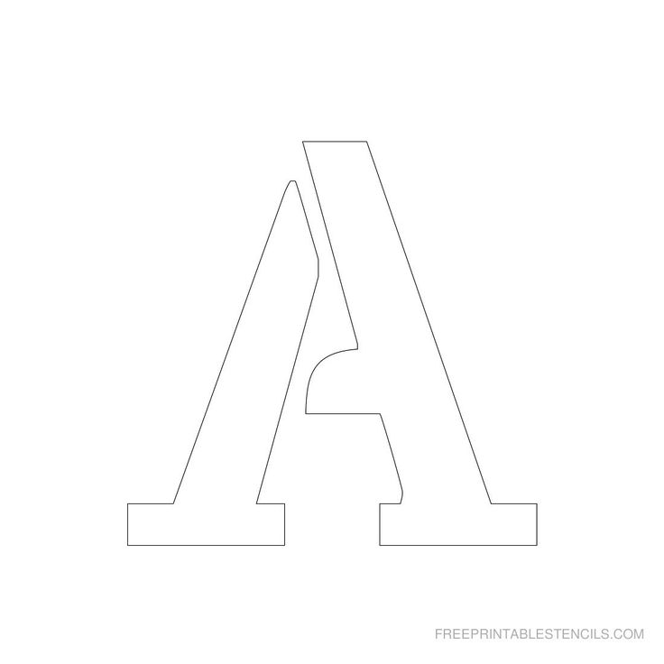 Printable 3 Inch Letter Stencil A--has full alphabet ...