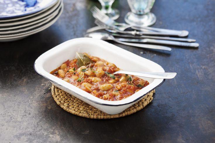Recept från Zeta. Vita bönor i tomatsås