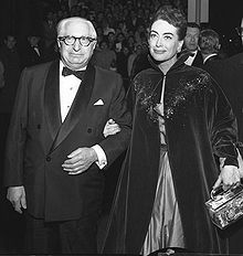 """MGM Boss and """"King of Hollywood,"""" Louis B. Mayer (with Joan Crawford)."""