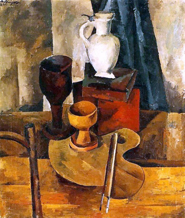 Александр Осмёркин «Натюрморт» 1920 г. Холст, масло. Тульский художественный музей