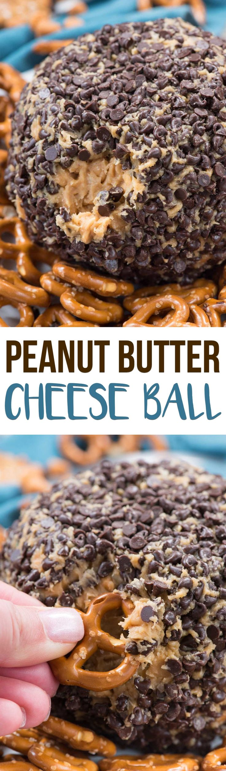 Peanut Butter Cheese Ball Dip is an EASY dessert dip recipe for a party! Peanut butter, cream cheese, butter, sugar and LOTS of chocolate make this the perfect addicting dip recipe for any occasion. via @crazyforcrust