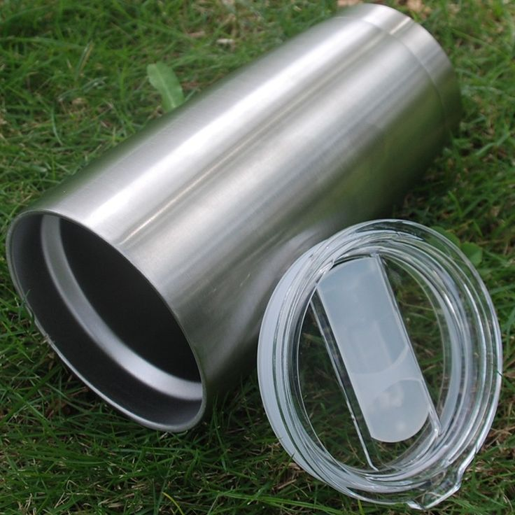 20oz Stainless Steel Cup Silver Stainless Steel Thermos Coffee mug travel mug…