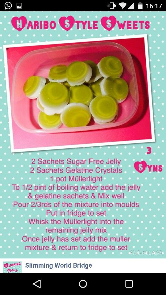 Jelly sweets from slimming world bridge on facebook