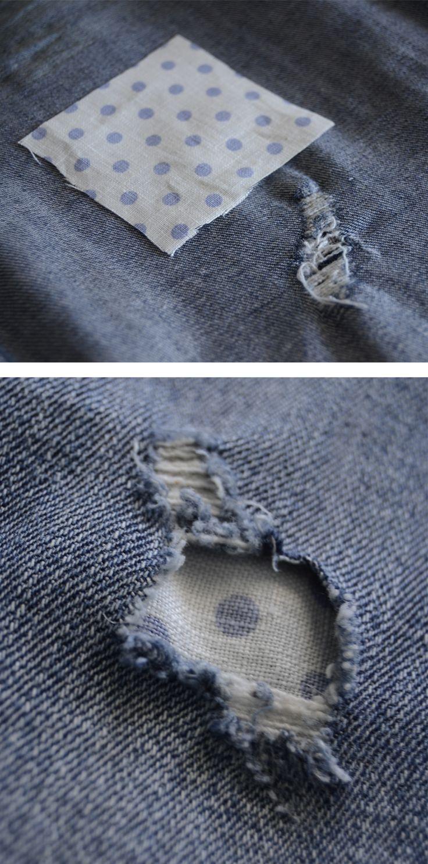 Como arreglar unos vaqueros rotos sin coser.