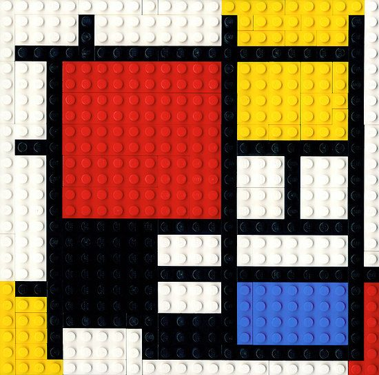 Mondrian inspired lego art. Must do this before the year is out to finish our Mondrian study.