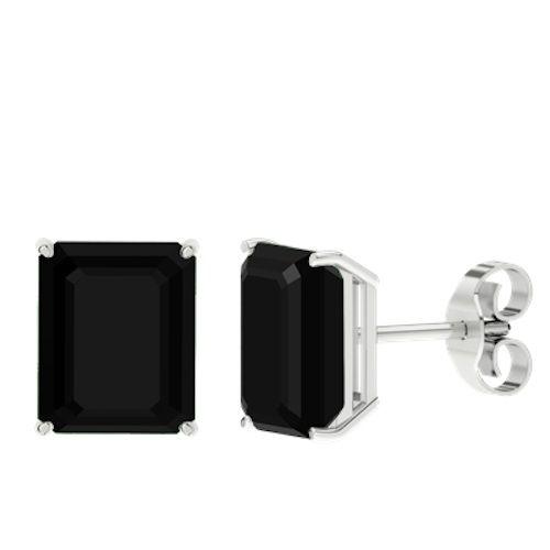 hardtofind monochrome style | Onyx sterling silver stud earrings
