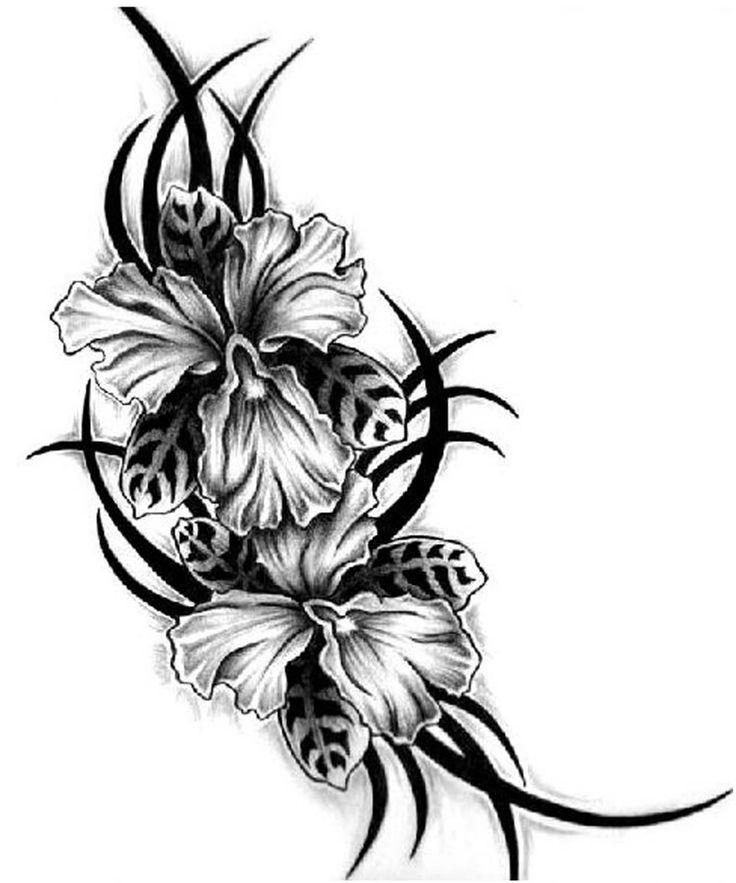 Картинки для тату черно белые для девочек, днем медика