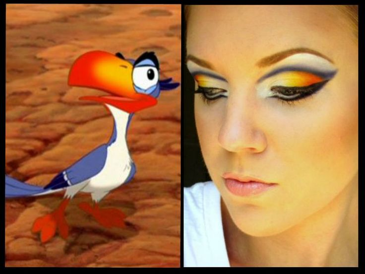 The Beautiful Life Of The Girl Next Door: Zazu (from the Lion King) Inspired Makeup!