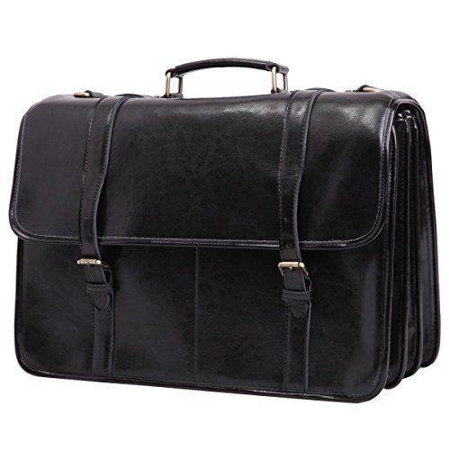 a4d3587e985c7 Leathario Herren Echtleder Aktentasche Arbeitstasche Businesstasche  Laptoptasche Messenger Bag Bürotasche Umhängetasche Schultasche   arbeitstasche   ...