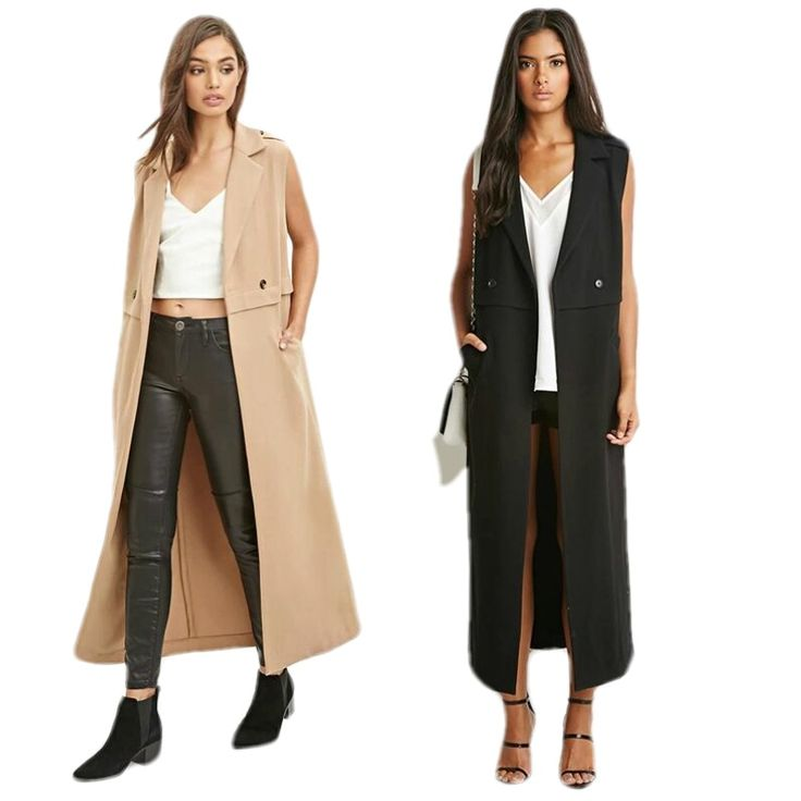 2016 Women Chic Notched Lapel Sleeveless Maxi Long Cardigan Trench Duster Coat Summer Outerwear-in Trench from Women's Clothing & Accessories on Aliexpress.com | Alibaba Group
