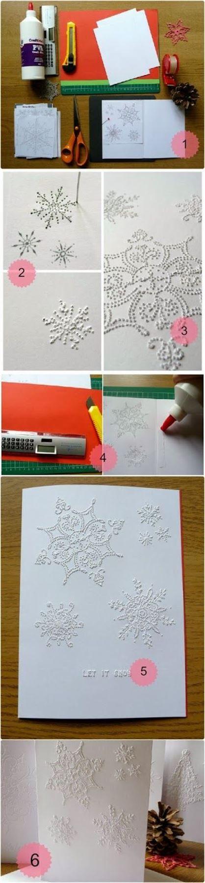 ideas para hacer postales de navidad originales a mano