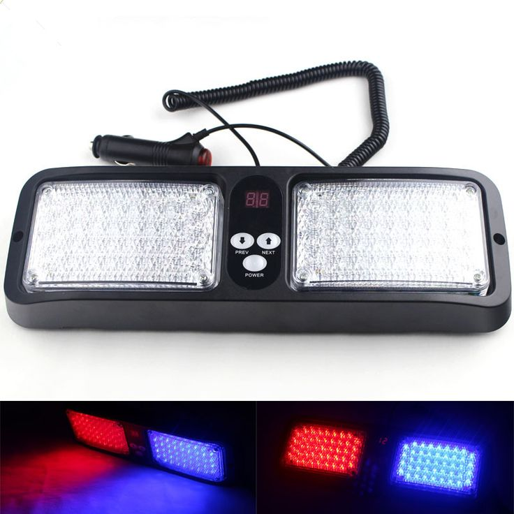 ==> [Free Shipping] Buy Best Newest 12 Modes 86 LED Red Blue Super Bright Police Strobe Light Car Truck Visor Strobe Flash Emergency Warning Light Wholesale Online with LOWEST Price | 32808640274
