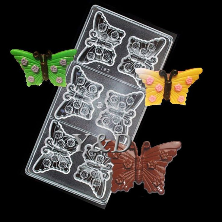 Nice Beautiful Butterfly Shaped Clear Polycarbonate Chocolate Mold Diy Pc Mould