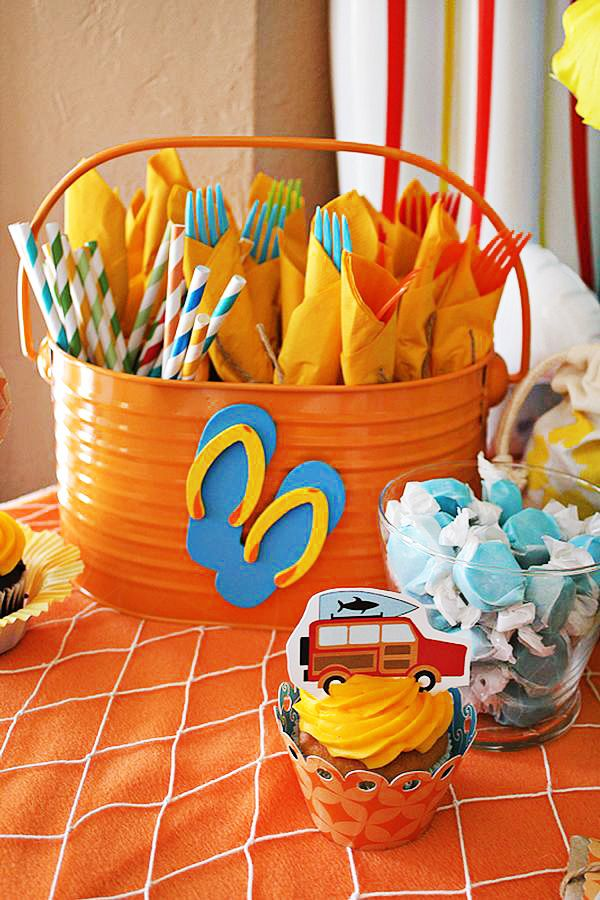 Pool Party Decorations Ideas pool party decorating ideas Cheers To Summer Surfer Style Kids Pool Party Ideas