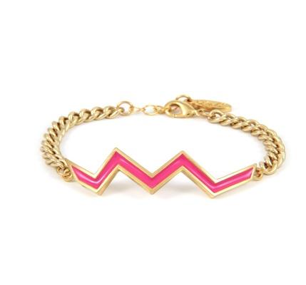 Aztec Lightning Bar Chain Bracelet