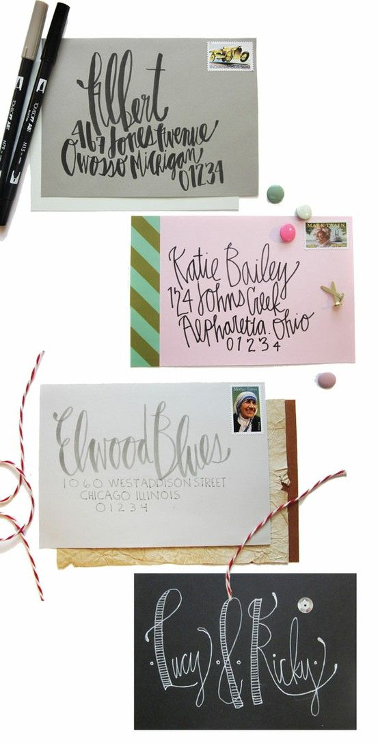 handwrite or print wedding invitation envelopes%0A the reason why I love snail mail writing addresses on an envelope along  with a handwritten note