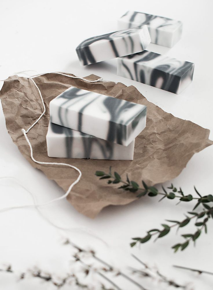 DIY Marbled Soap | Homey Oh My