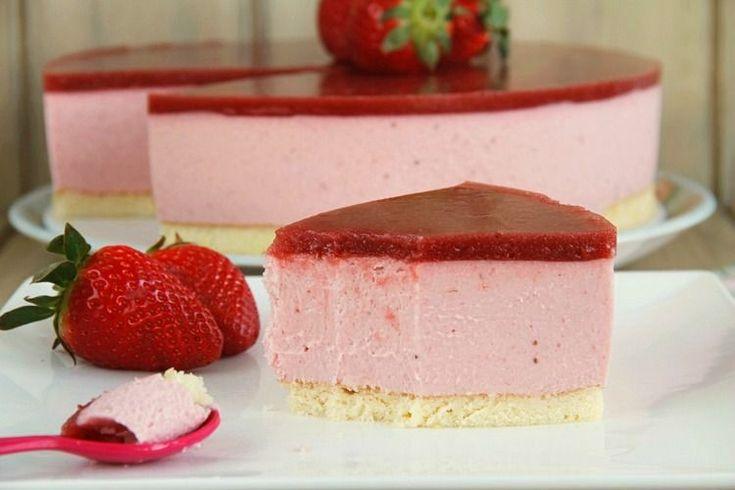 Tarta de fresas y mascarpone   Recetas Thermomix   MisThermorecetas