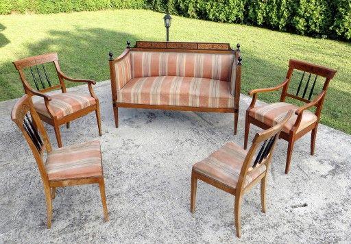 Meble BIEDERMEIER, sofa fotele krzesla, bidermajer