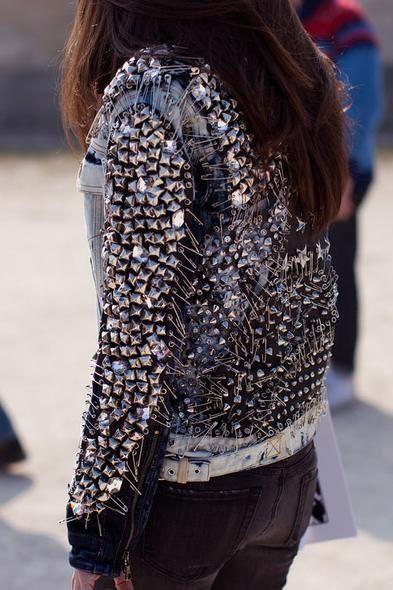 Balmain studded jacket.