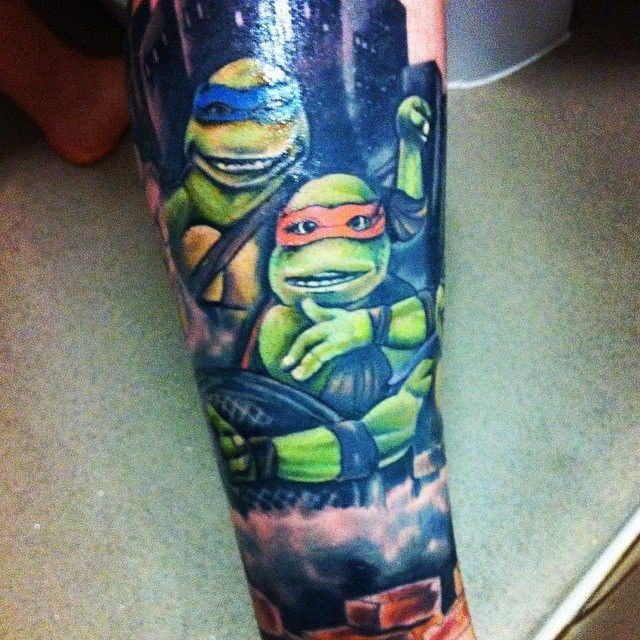 Tmnt tattoo Giving my body a voice t TMNT and Tattoo