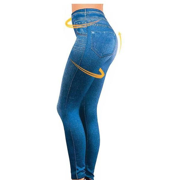 Leggings Jeans for Women Denim Pants with Pocket