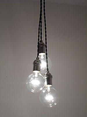3 Bulb Cluster Pendant Light Modern Industrial Chandelier Edison Lamp Lighting