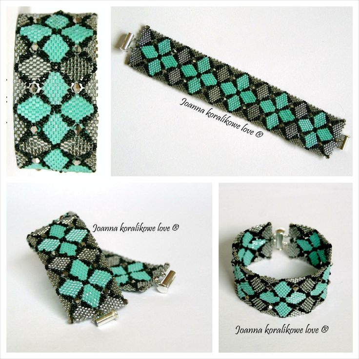 Bracelet ,peyote beaded jewelery
