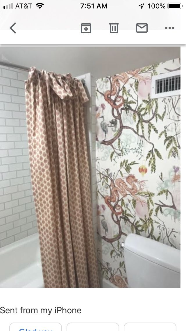 I Want To Do A Pretty Wallpaper And Coordinating Fabric Shower