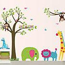 bricolaje pegatinas mono animal en los autoadhesivas de plástico lavable etiquetas de la pared del parque zoológico - EUR € 14.99