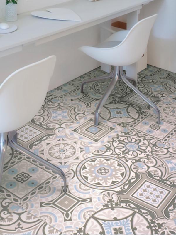 Rev tement pvc largeur 4m melinda shalimar 583 ivc - Lame vinyle salle de bain ...