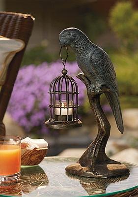 Whimsical Parrot Candleholder.