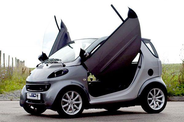 smart car lamborghini doors