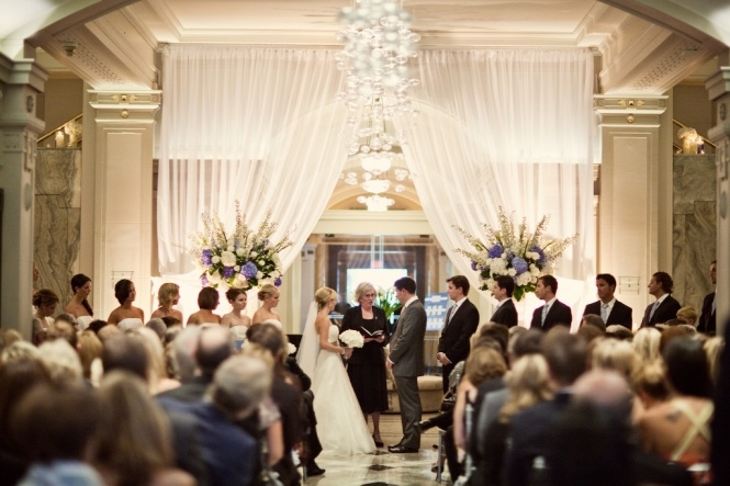 Ceremony in the Lobby of the timeless and always elegant Vancouver Club