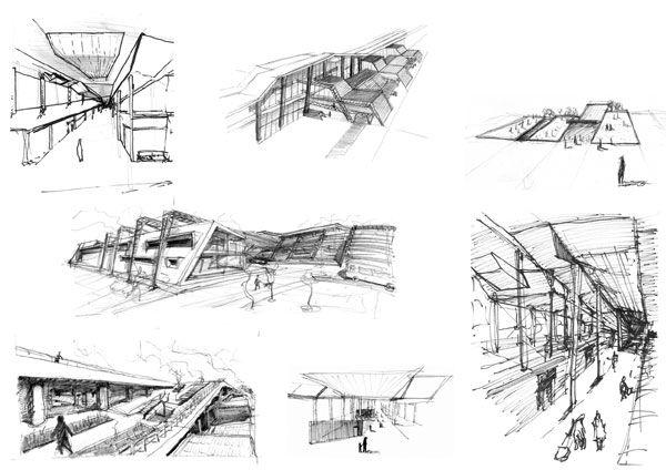 Bus Station Design Architecture In 3d Pelautscom Ideas